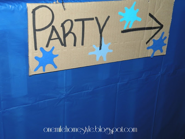 Water Theme Birthday Party Sign
