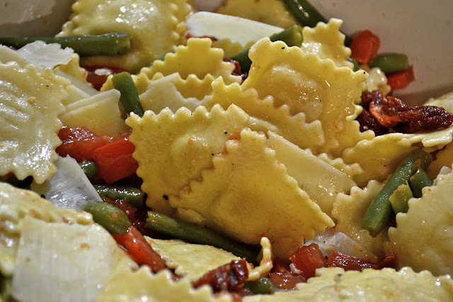 "Point-less"" Meals: Ravioli and Green Bean Salad"