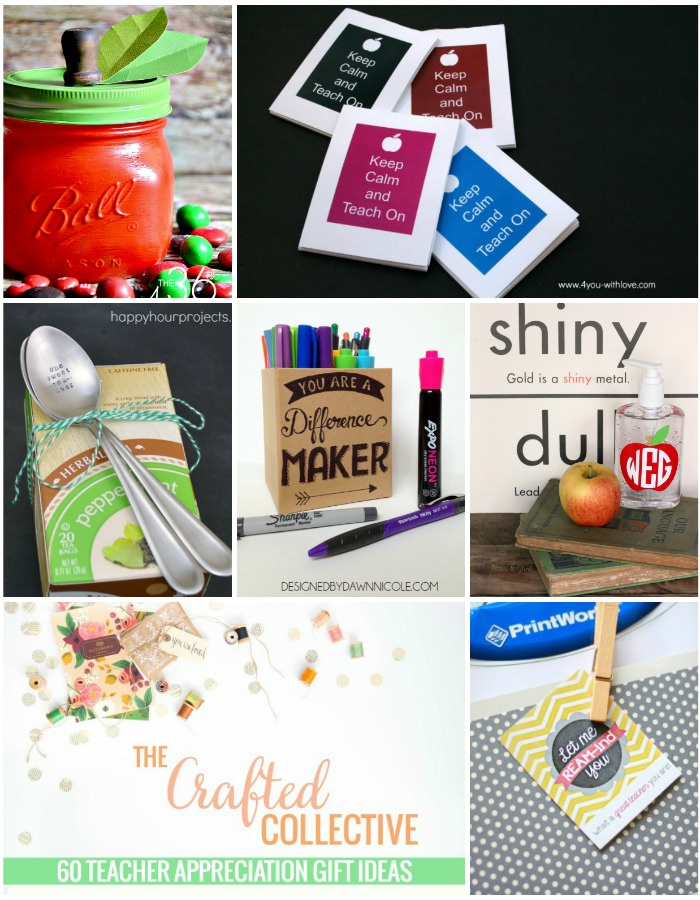 The Crafted Collective: 60 Teacher Appreciation Gift Ideas www.pitterandglink.com