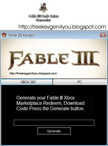 Fable 3 product key generator download