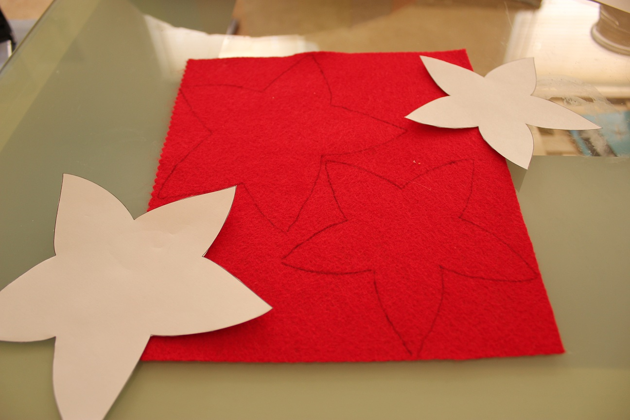 Poinsettia Paper Pattern No freezer paper required (for