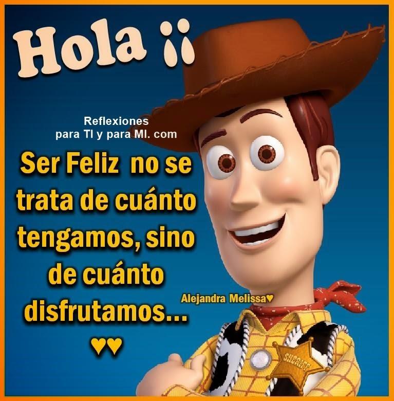 Hola !!!  Ser Feliz no se trata de cuánto tengamos, sino de cuánto disfrutamos...