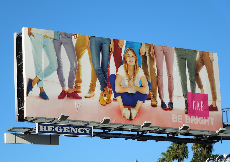 Gap Be Bright billboard ad