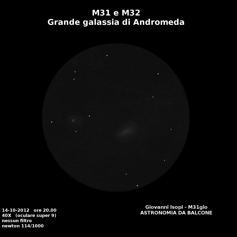 Astronomia da balcone: Giove e la Galassia di Andromeda