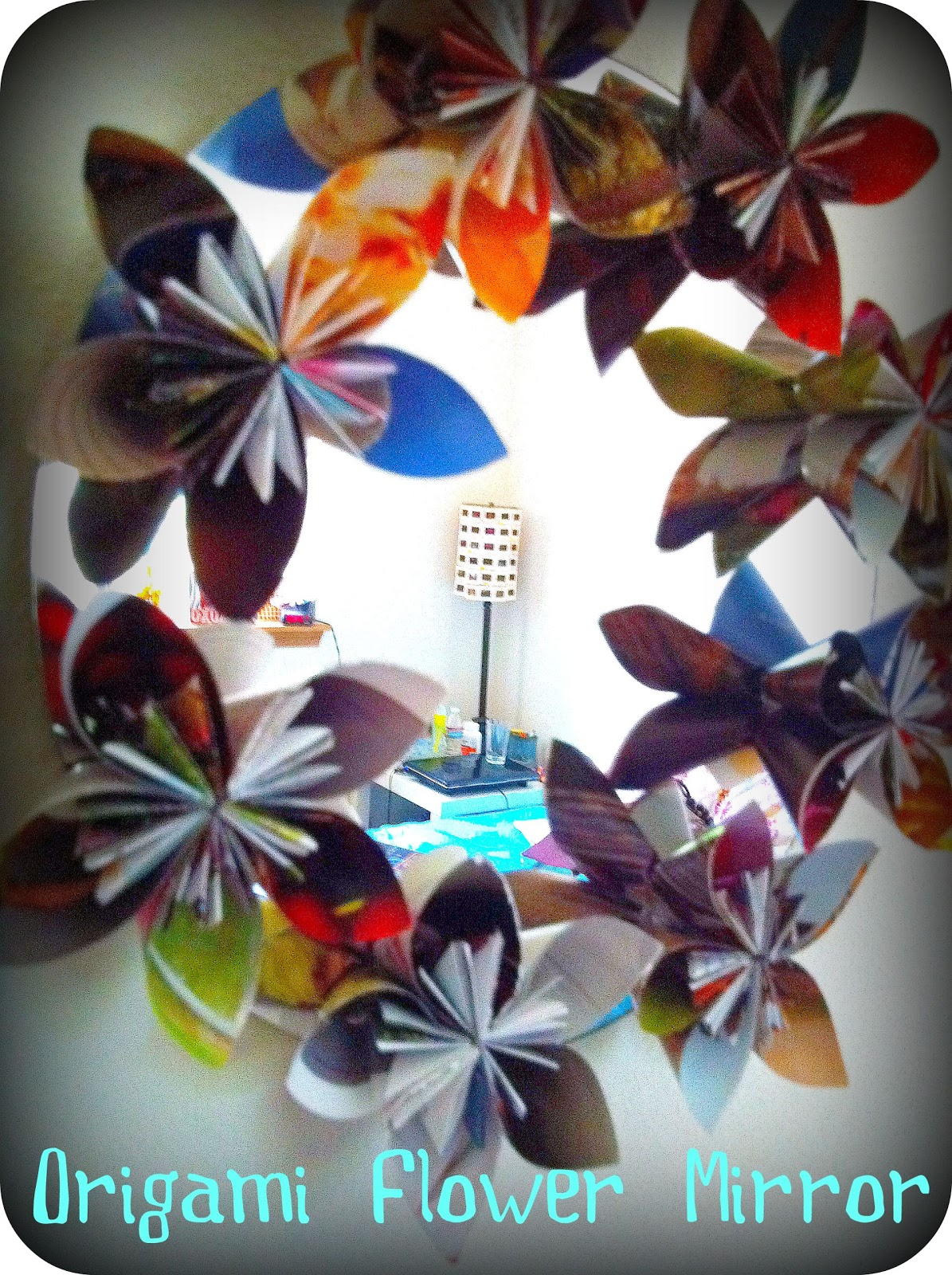 The Kc Experience Tutorial Origami Flower Mirror