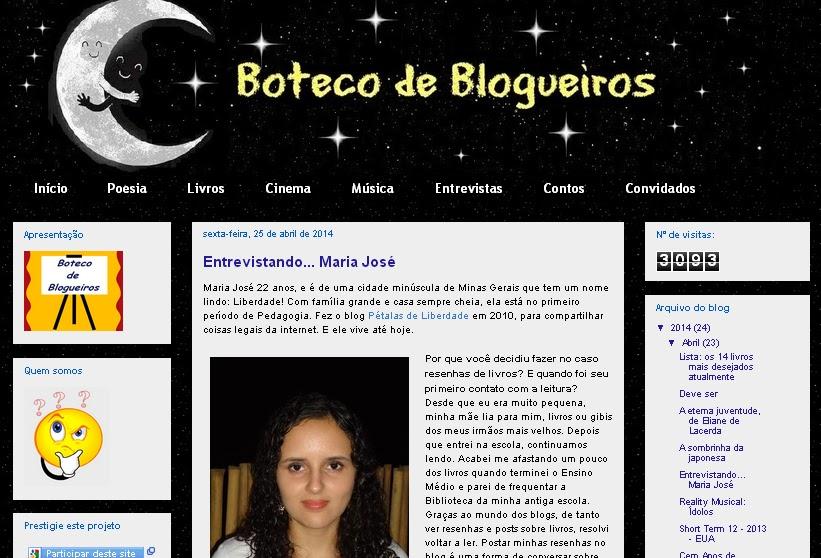 Entrevista, Marijleite, Pétalas de Liberdade, Boteco de Blogueiros