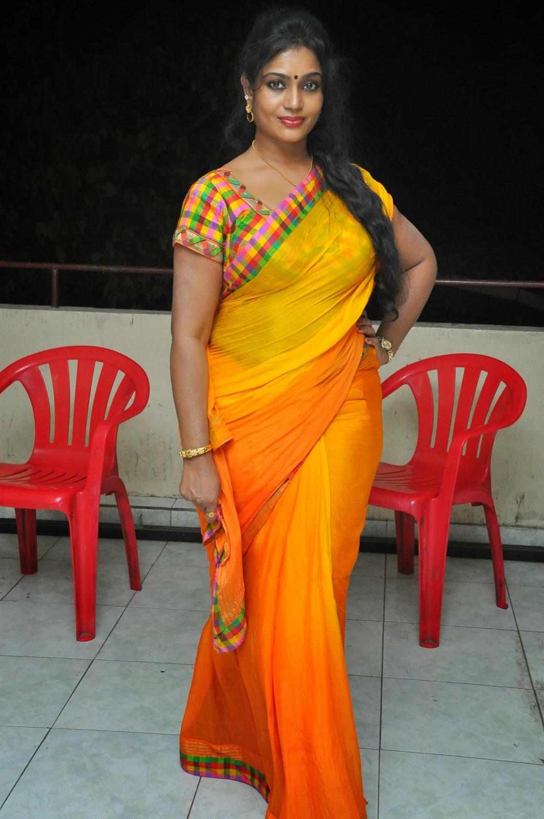 Jayavani glam pics in saree-HQ-Photo-5