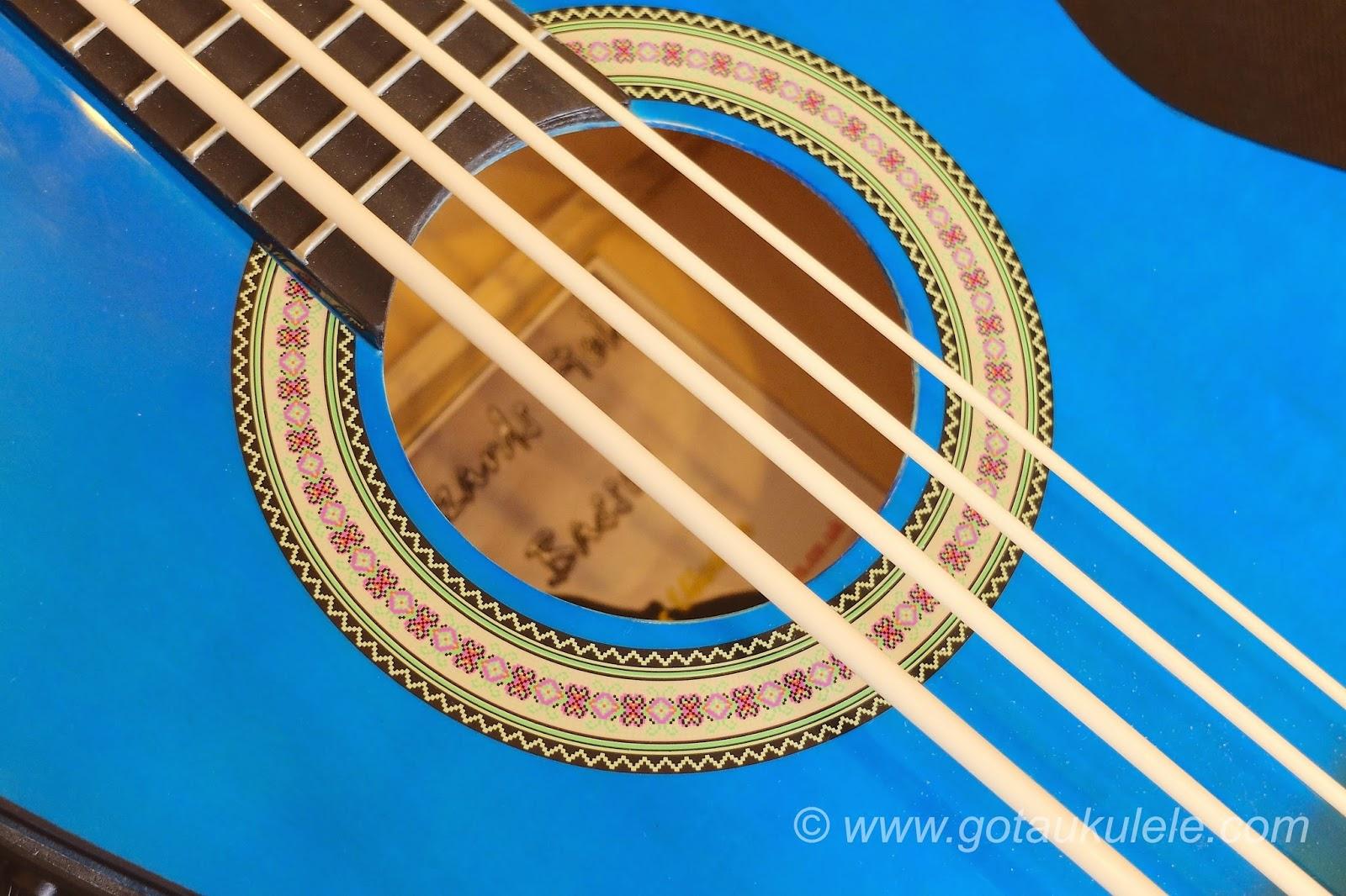 Buzzards Field Bass Afan Ukulele soundhole
