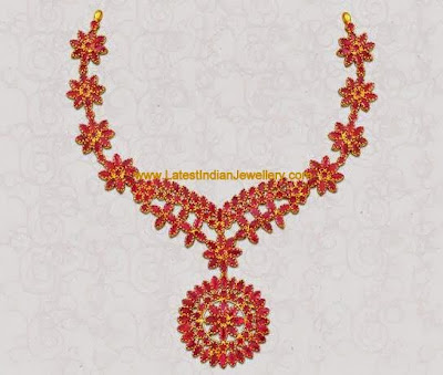 Precious Ruby Necklace Design
