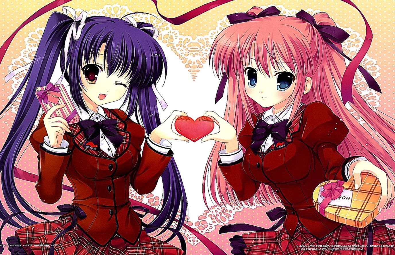 Valentines Day Anime Girls Wallpapers Hd Background Wallpaper Gallery