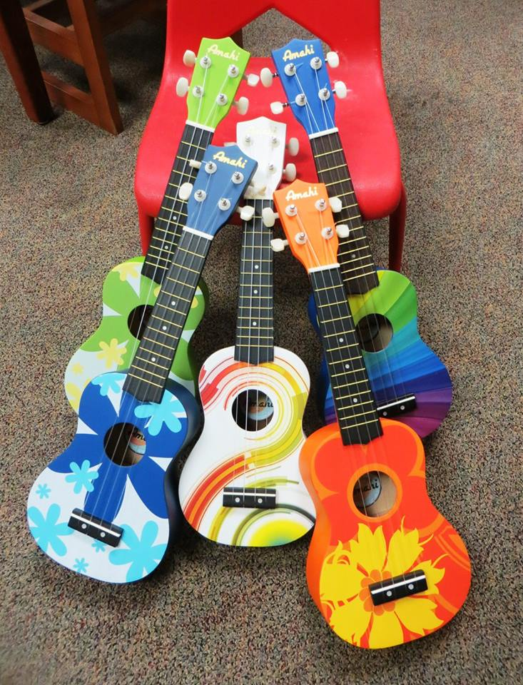 photo of ukuleles
