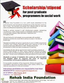 MSW Scholarship Programme 2015