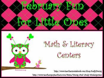 http://www.teacherspayteachers.com/Product/February-Fun-Printable-Centers-for-Little-Ones-192621