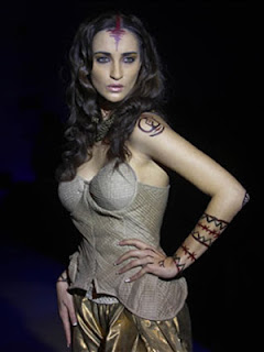 Model at Bangalore Fashion Week