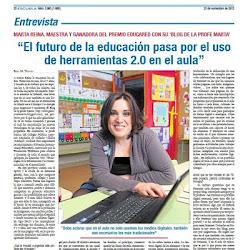Entrevista en el periódico ESCUELA.