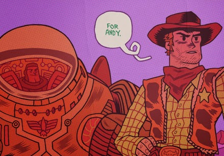 Cowboys & Aliens = Woody & Buzz by Dan Hipp