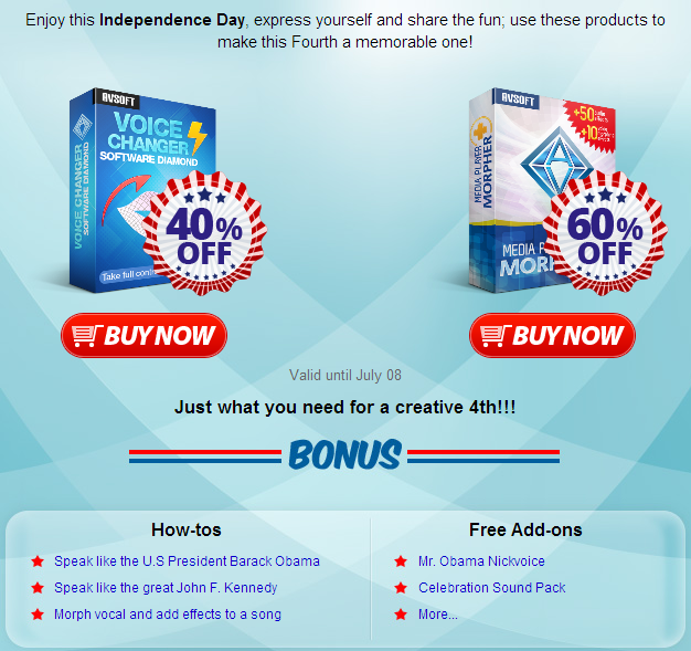 Enjoy this Independence Day, express yourself and share the fun; use these products to make this Fourth a memorable one!