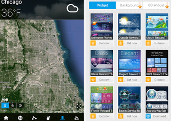 天氣 APP:GO天氣EX APK / APP 下載,提供天氣預報及、降雨機率、溫度狀況,Android 版