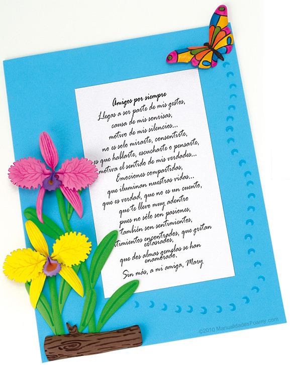 Manualidades en la Revista: Carta con orquídeas