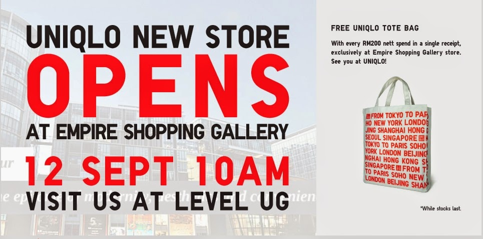 Uniqlo New Store Opens at Empire Shopping Gallery