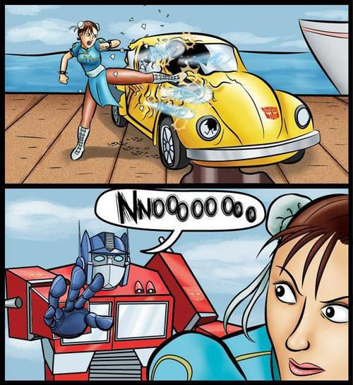 Street Fighters Vs. Transformers