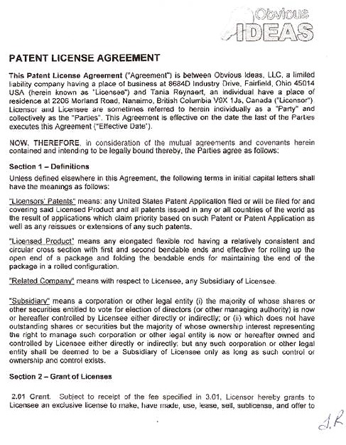 Patent License Agreement Template