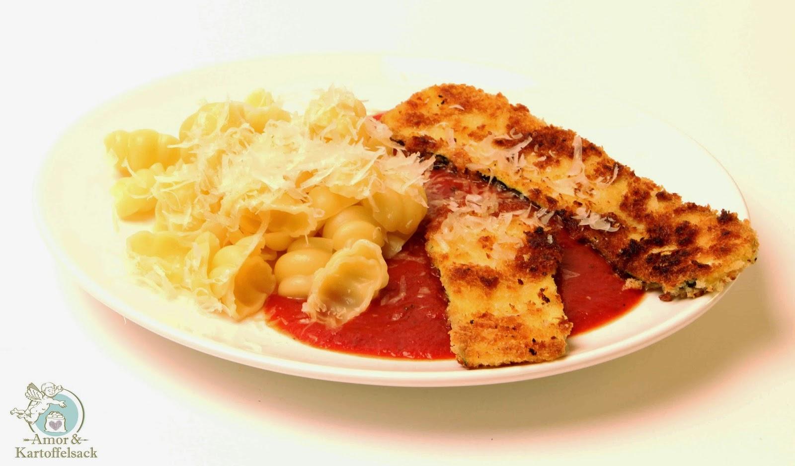 Panierte Zucchini