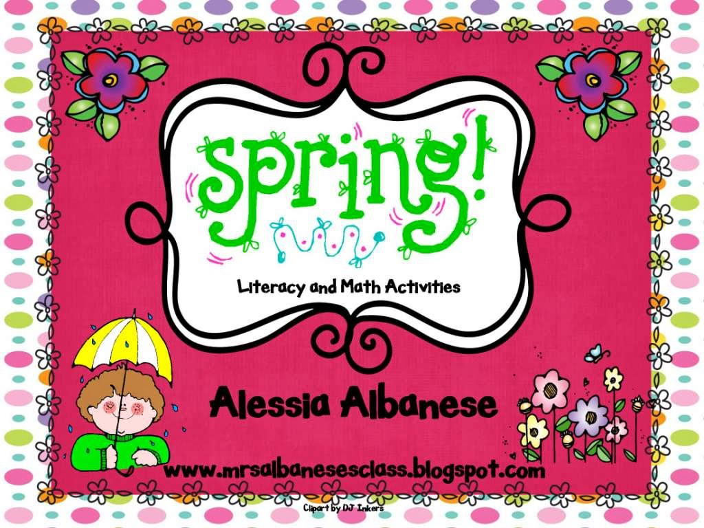 http://www.teacherspayteachers.com/Product/Spring-Literacy-and-Math-Activities-612221