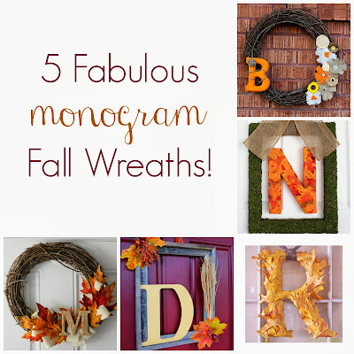 5 Fabulous Monogram Fall Wreaths from It's Always Ruetten