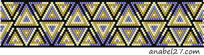 free beadpatterns brick stich peyote bracelet beadwork