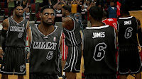 NBA 2K14 Heat Black in Black Jersey