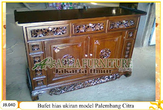 Buffet hias ukiran model palembang citra
