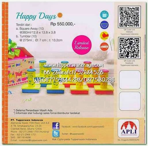 Tupperware Promo April 2015 Happy Days