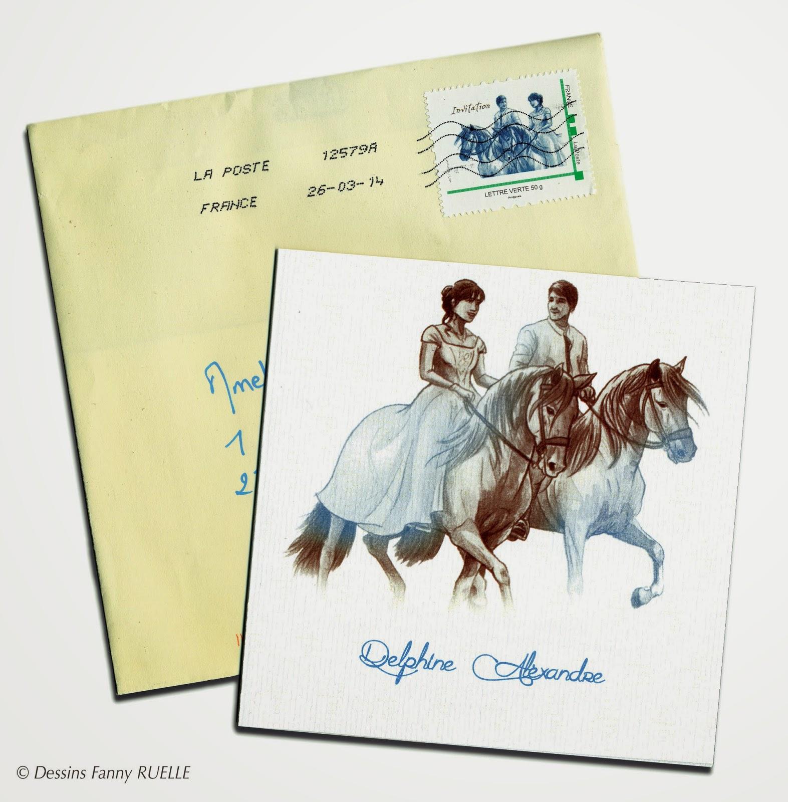 faire part mariage cheval iz55