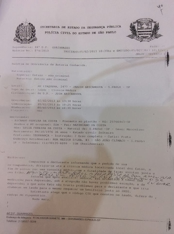 FALSIFICAÇAO DE DOCUMENTO.