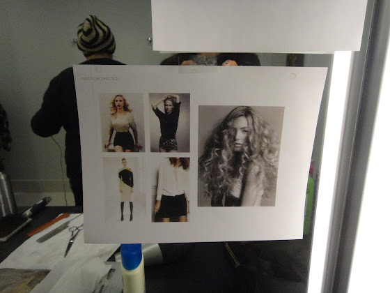 Hair and make-up inspiration on Behind the scenes of Kohler Torsion Ad styled by Jessica Moazami