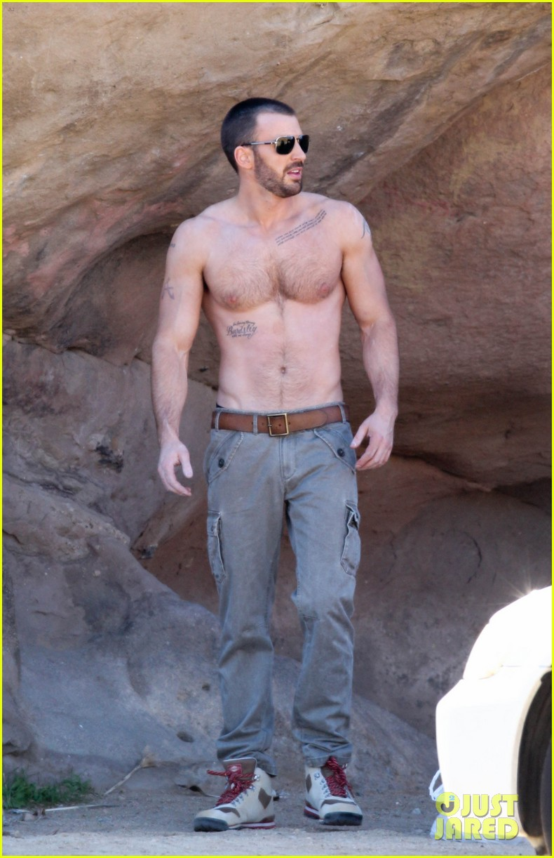 Chris Evans shoots a sexy photo shoot for Details Magazine at Vasquez ...