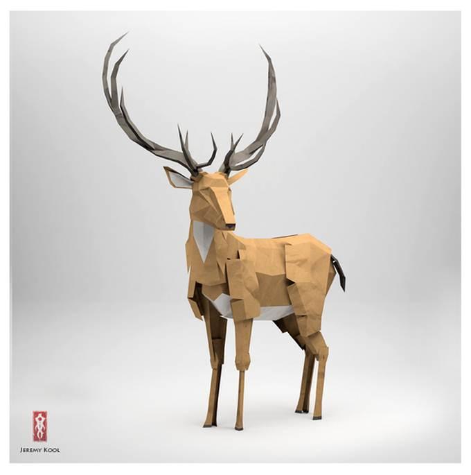 Sizzerbiz creative animal origami art - Animaux origami 3d ...