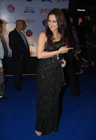 Actress, Preity, Zinta, in, Black, Saree, Photos