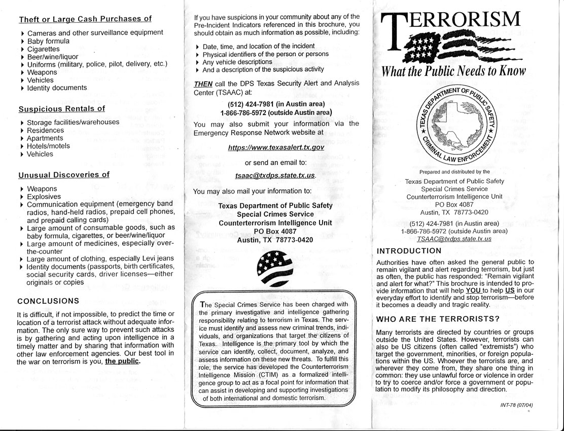 "report writing on terrorism Free terrorism papers, essays, and research papers terrorism and the effects on security policies - ""no state responds to a terrorist campaign without changing its institutions and hence society itself, even if only slightly,"" stephen sobieck states in his chapter on democratic responses to international terrorism in germany."