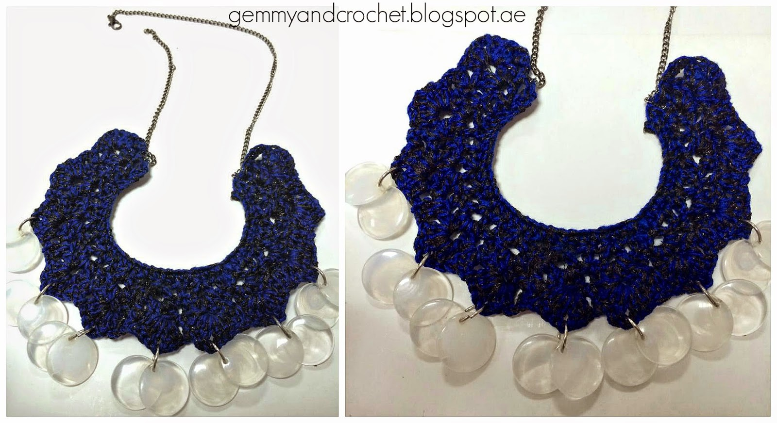 Crocheting Necklaces With Beads : ALL ABOUT CROCHET: Beaded Crochet Necklace