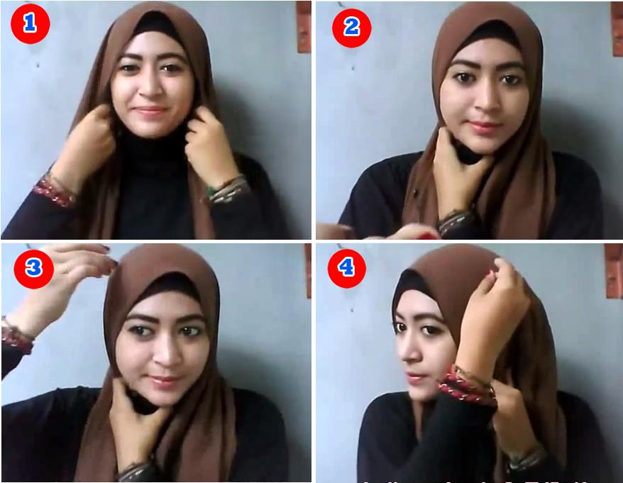 Tutorial Hijab Pashmina Kuliah Ala Natasha Farani 2017