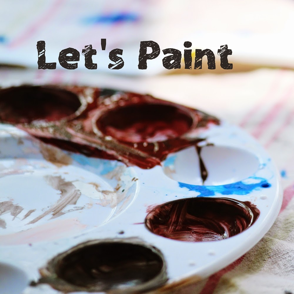 Indoor Games For Kids: Family Painting Night. Acrylic paints with children.