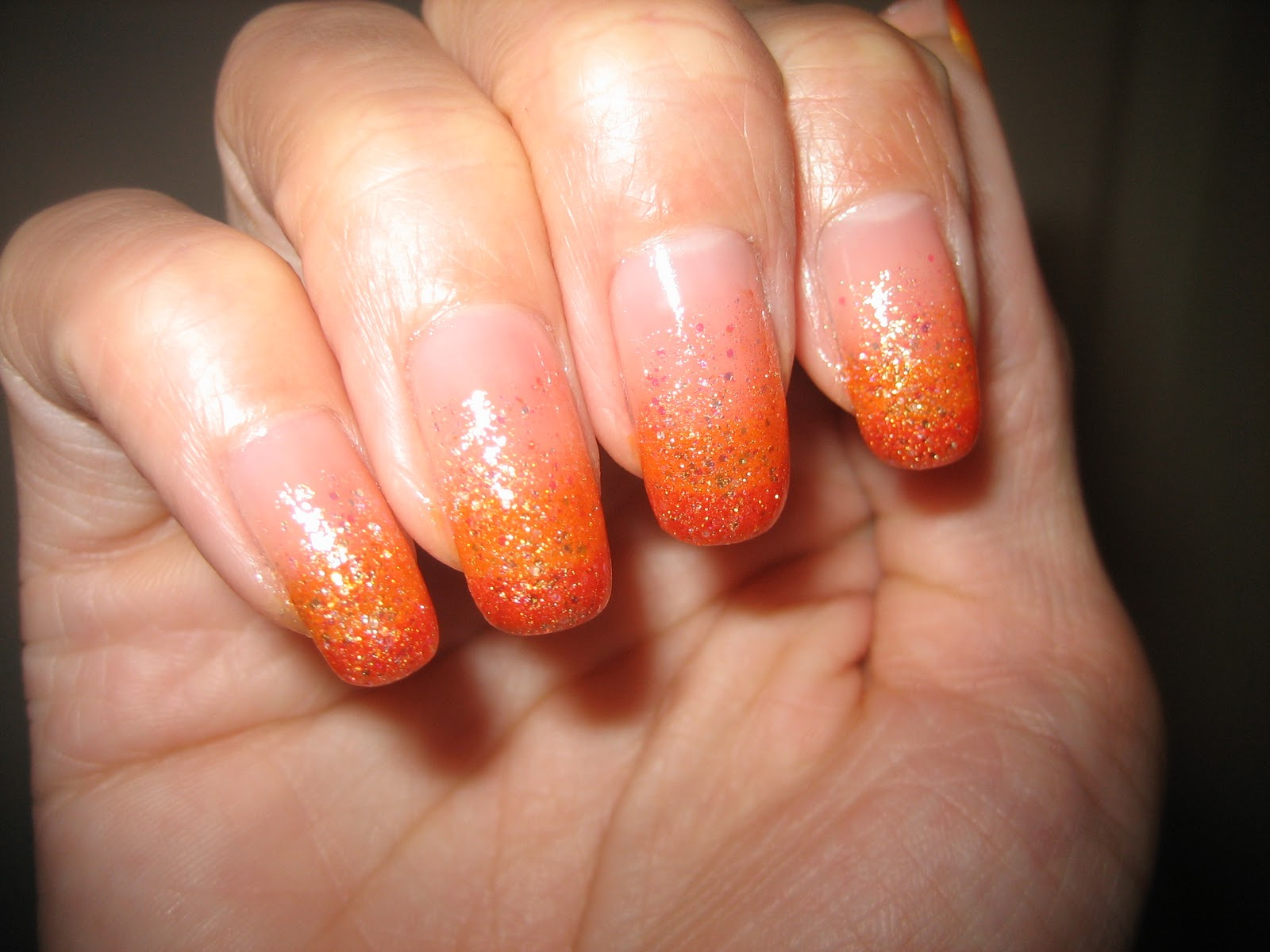 Awesome Nails By Nicole Easy Halloween Gradient Nail Design