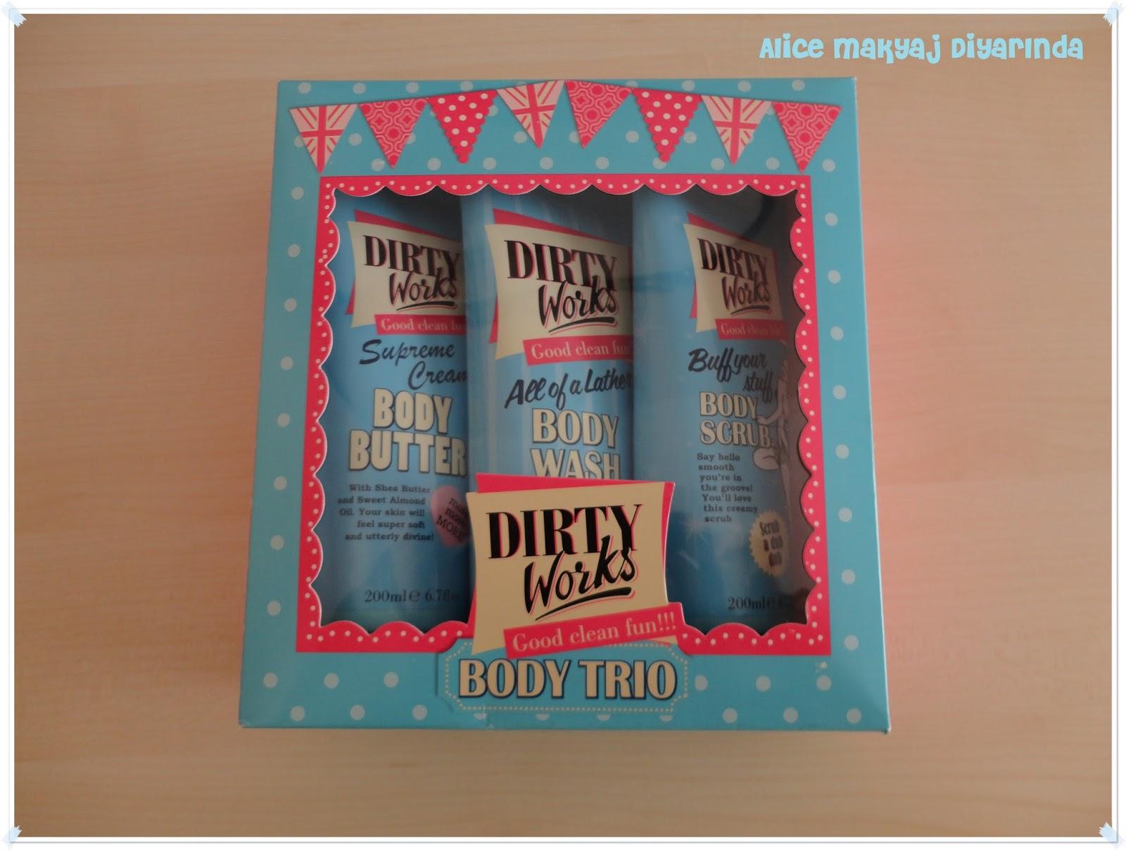 Dirty Works Body Trio- Üçlü Vücut Bakım Seti