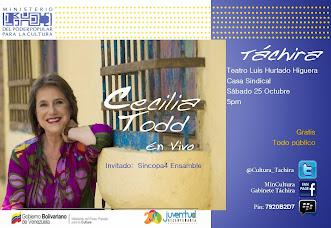 CECILIA TODD celebra su trayectoria artística en TÁCHIRA