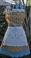 VIntage Linen runner apron
