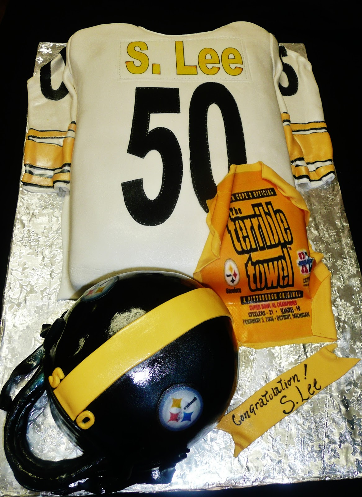 Baking With Roxanas Cakes Steelers Birthday Cake