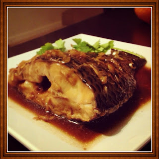 Tilapia braised in ginger & Lemongrass caramelized sauce