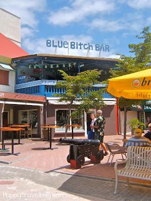 Blue Bitch Bar in Philipsburg, St. Maarten